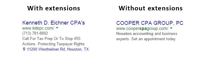 Houston Accountant PPC Ads