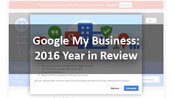 Google My Business 2016 Year In Review