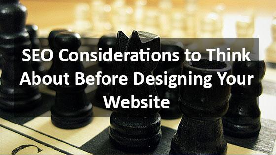 SEO Consideration for Web Design - Houston Web Design Agency