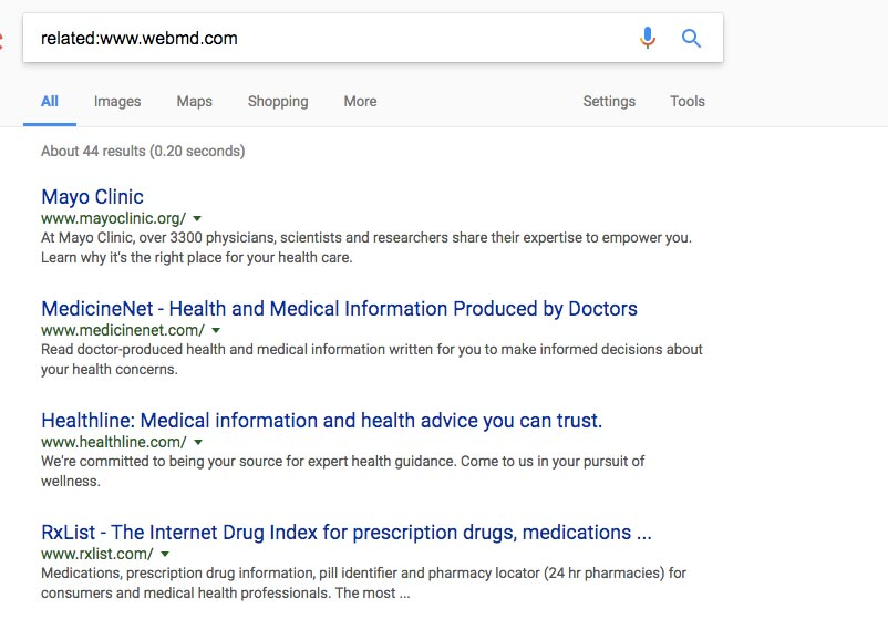 Related to WebMD on Google