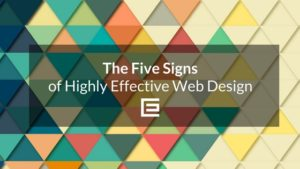 The five signs of highly effective web design